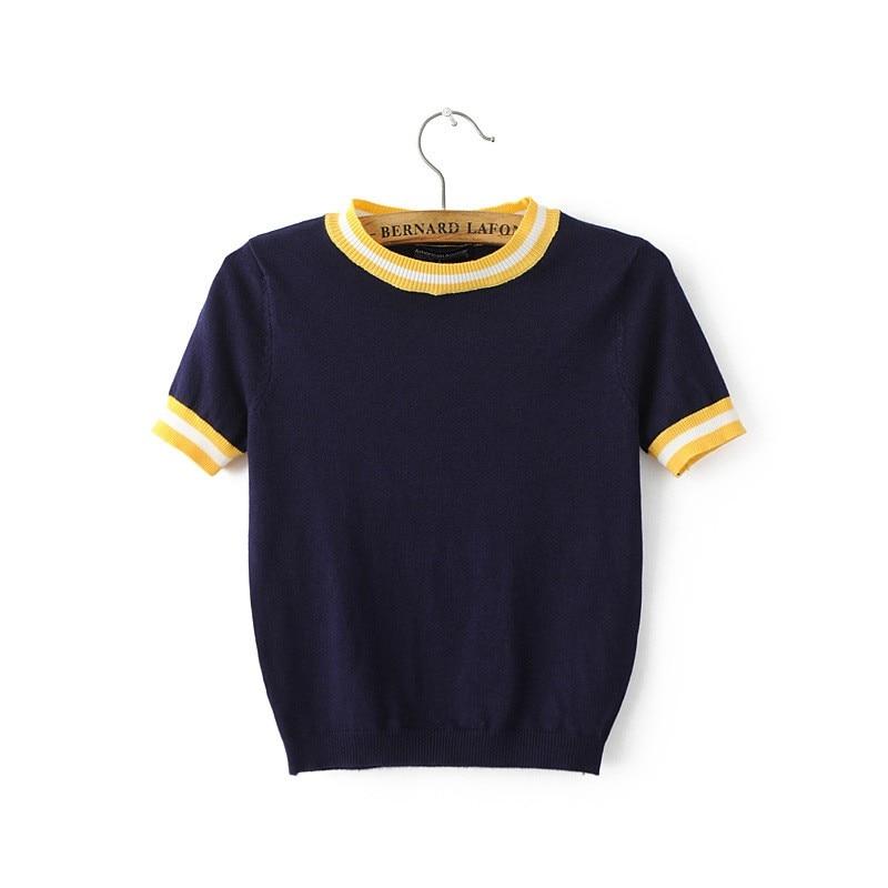 HTB1g3xqLXXXXXaoXXXXq6xXFXXXI - Women Knitted Crop Tops O-neck Short Sleeve Sweaters Sexy Streetwear PTC 245