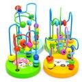 Brinquedos de madeira brinquedos para Crianças Bebê Crianças Colorido Mini De Madeira Ao Redor Contas Educacional Brinquedo Engraçado Do Presente por atacado