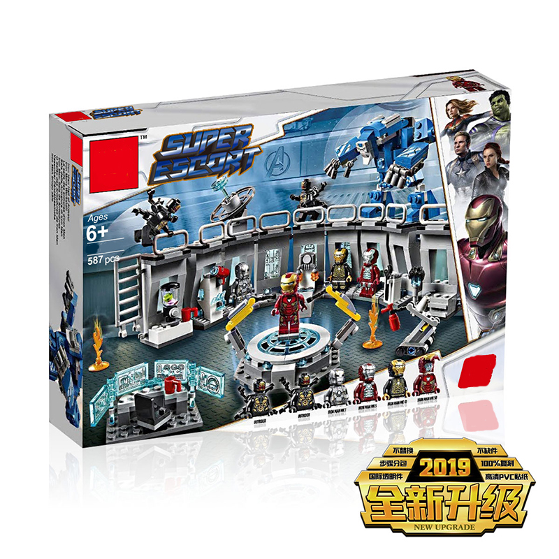 New Super Heroes Marvel 4 Iron Man Hall of Armour Compatible Legoing Marvel 76125 Building Blocks Bricks Toys Christmas GiftsNew Super Heroes Marvel 4 Iron Man Hall of Armour Compatible Legoing Marvel 76125 Building Blocks Bricks Toys Christmas Gifts