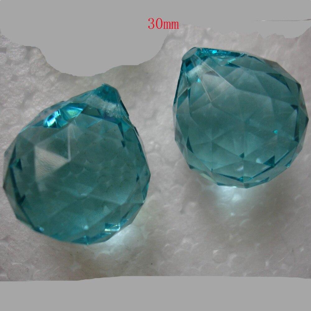 500pcs/lot 30mm lt.aquamarine glass pandent ball for door curtain decor wedding centerpiece decor free shipping