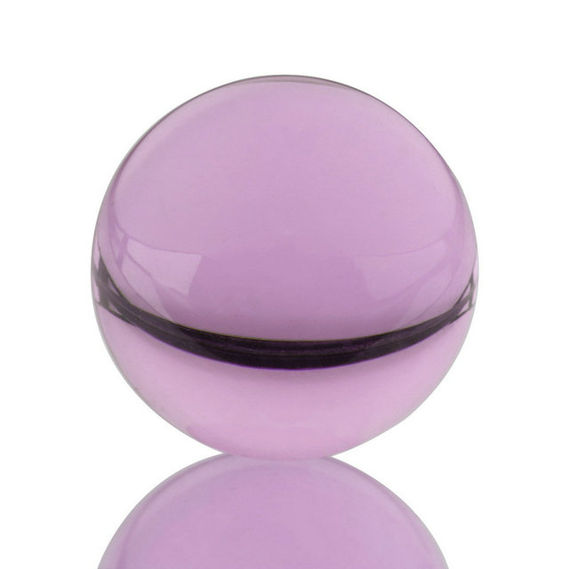 2017 New Unisex Natural Quartz Purple Round Magic Crystal Healing Ball Sphere 40mm + Stand Home Good Luck Decoration