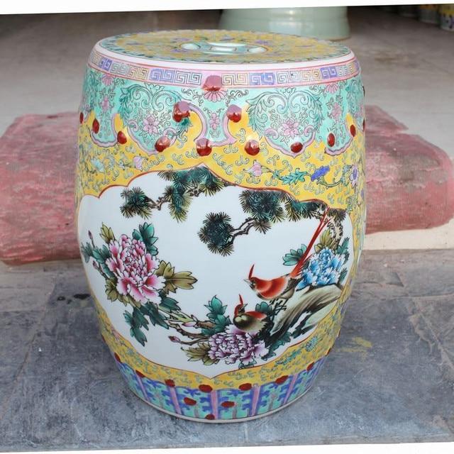 Ordinaire Famille Rose Porcelain Jindezhen Chinese Ceramic Drum Stool Bathroom  Dressing Ceramic Garden Stool Outdoor Stool