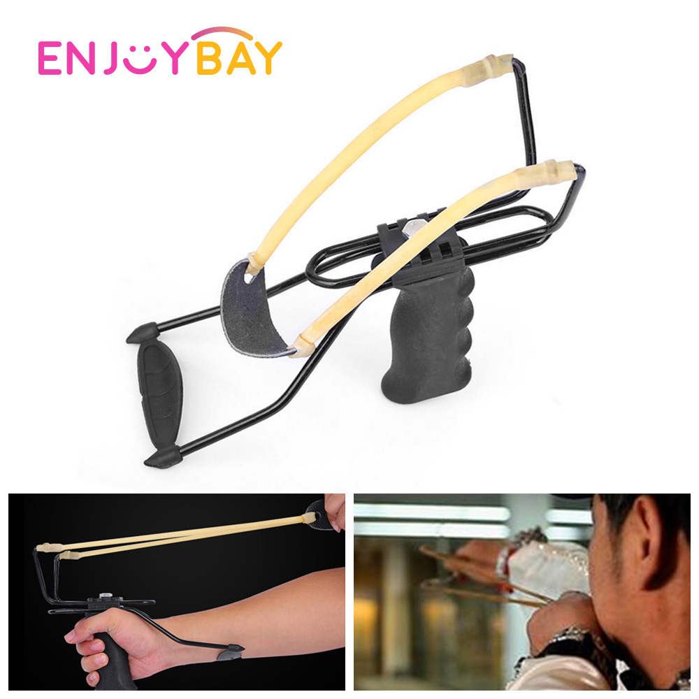 Enjoybay Professional Slingshot Powerful Rubber Band Sling Shot Toy Classic Outdoor Hunting Camping Slingshot For Kids Adults