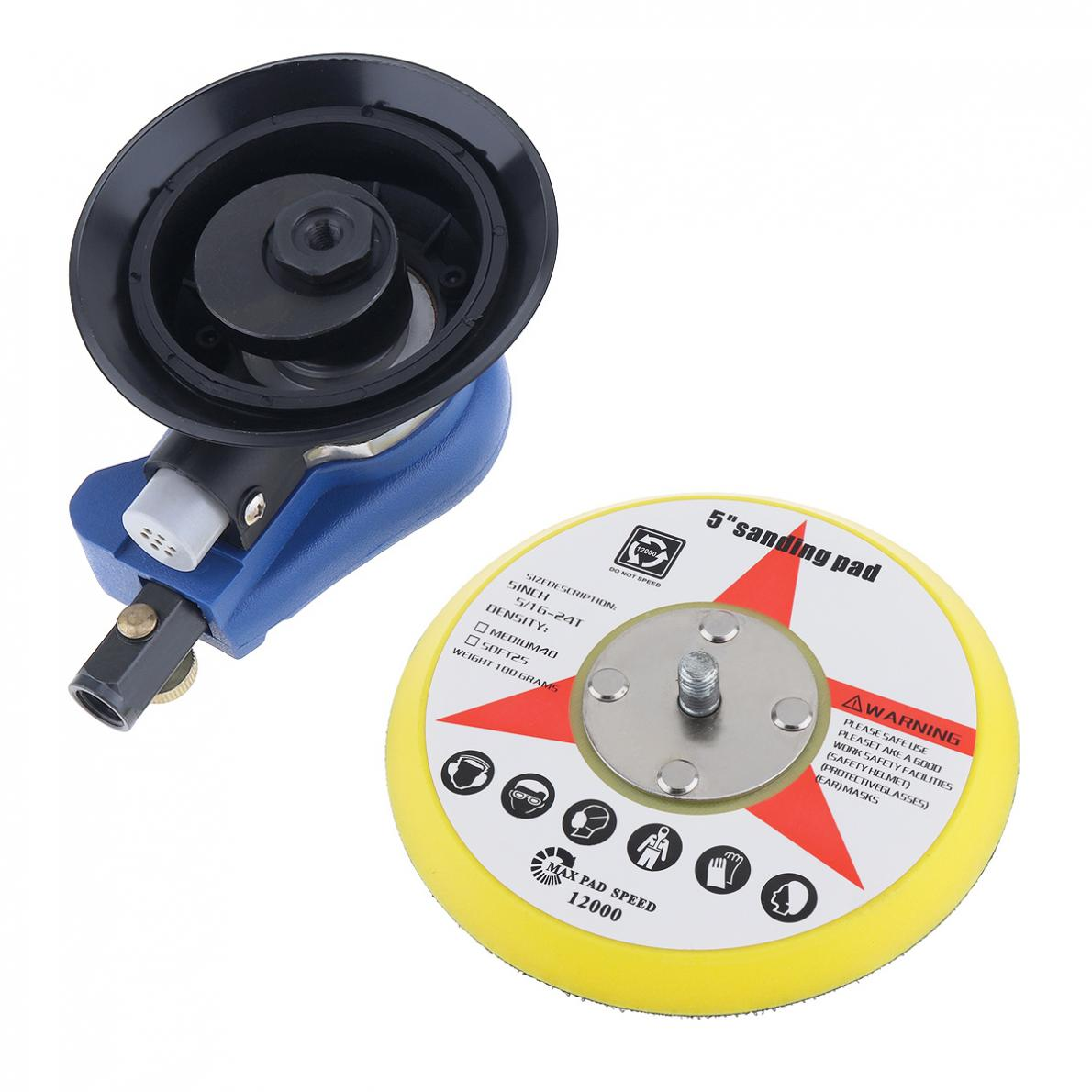 Image 4 - 5 Inch Matte Surface Pneumatic Polishing Machine Random Orbital with Sander Pad for Cars Polishing / Grinding / Waxing-in Pneumatic Tools from Tools on