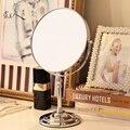 Alta qualidade de Desktop maquiagem espelho dupla face espelho de maquilhagem espelho moda se casou com a princesa espelho portátil beleza 8 polegadas