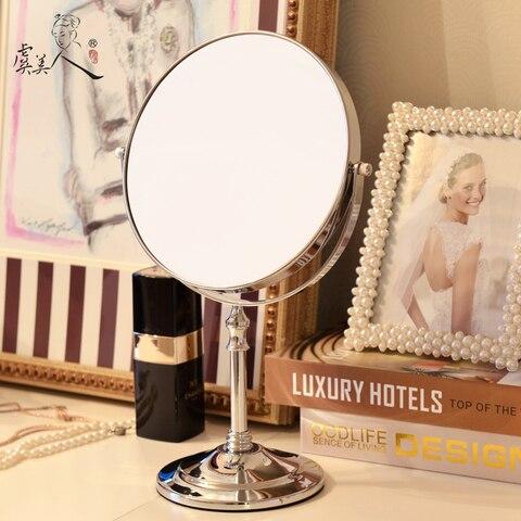 Alta qualidade de Desktop maquiagem espelho dupla face espelho de maquilhagem espelho moda se casou