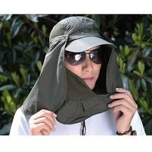WEIXINBUY Mulheres Moda Casual Chapéus de Sol Unissex Lazer Chapéu de Sol Proteção  UV Rosto Neck d9321fa19fa
