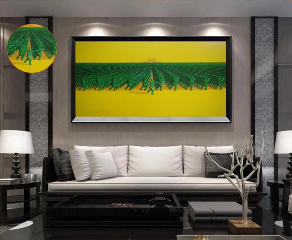 Knife painting MODERN ABSTRACT Yu Nan Cheng WALL ART OIL PAINTING ON ...