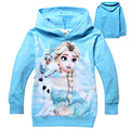 Cartoon Jackets For Girls 2015 Autumn Long Sleeve Children Hoodies Princess Elsa Olaf Sweatshirt For Kids Christmas