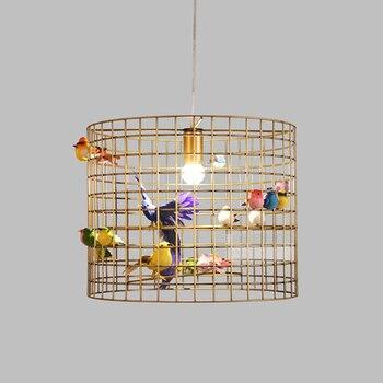 Oiseau Télécommandé   Lampes Suspendues De Lanterne D'oiseau De Fer Rétro Lampes De Pendentif LED Individuelles Postmodernes Nordiques Lampes Suspendues De Chambre De Restaurant Américain