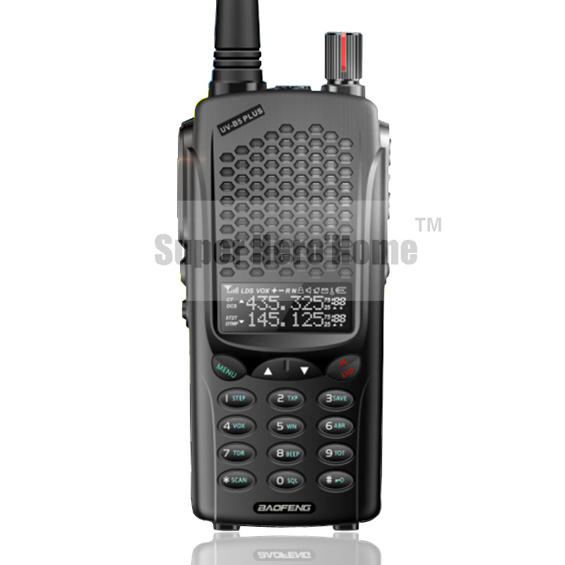 Nouveau baofeng uvb5 plus talkie walkie haute puissance portable à deux voies Radio VHF UHF UV Dual Band 1-10 KM BF-UVB5 PTT Émetteur-Récepteur Russie