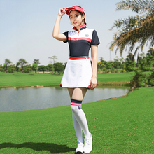PGM New Ladies Tennis Golf Costume Skirt Suit Golf Dress Sportswear Clothes Lady Short Sleeve Suits T-shirt Sports Wear цена