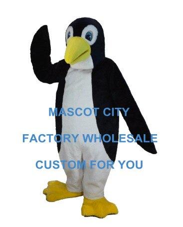 Tuxedo Penguin Mascot Costume Adult Size the Antarctic Animal Black Panther Cosply Costume Carnival Mascotte Mascota SW1083
