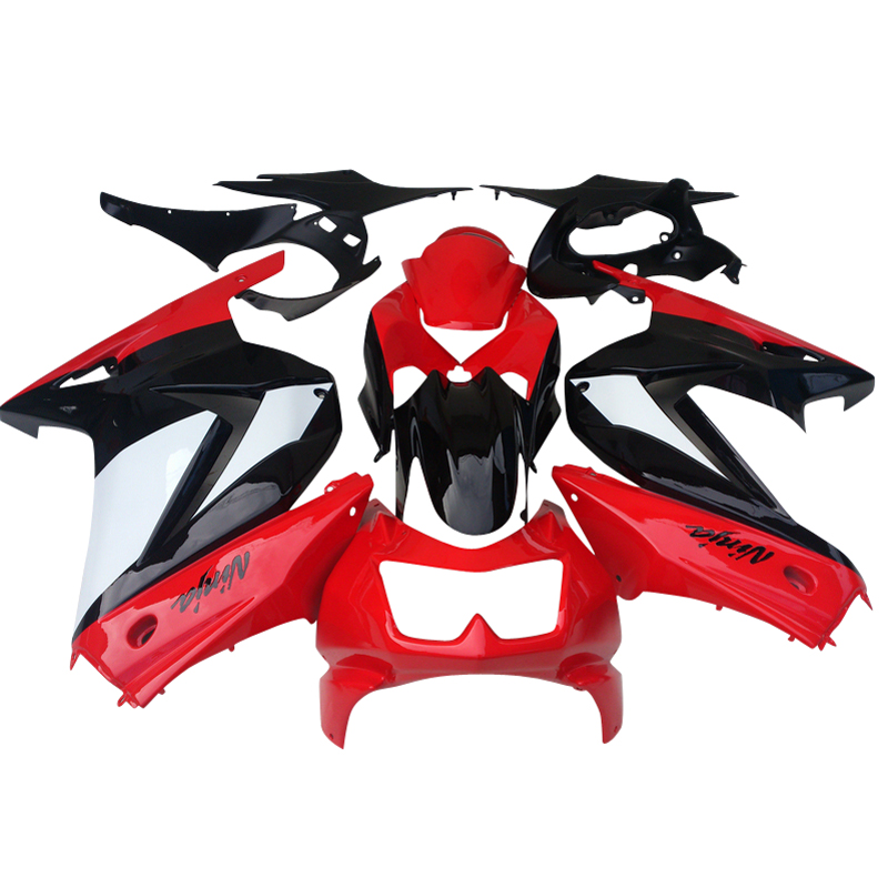 купить Fit for Kawasaki Ninja 250R Fairings 2008 2009 2013 2014 EX250 08 09 10 11 12 13 14 ZX 250R red black injection body fairing kit по цене 23083.79 рублей