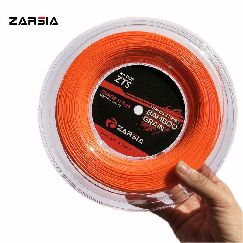 2018 ZARSIA Bamboo Polyester Tennis Strings POLY Tennis Racket Strings 200m Spinning Tennis Strings 1.25mm 17G (orange)