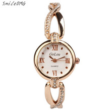 SmileOMG Hot Sale Fashion Casual Women Alloy Dial Quartz Analog Rhinestone Bracelet Wrist Watch Gift Free Shipping ,Oct 11