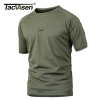 TACVASEN New Summer Army T Shirt Men Military Tactical Shirt Quick Dry Combat T Shirts Breathable