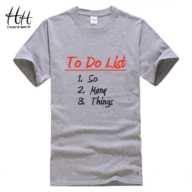 Aliexpress.com : Buy HanHent To Do List So Many Things T shirt Men ...