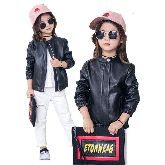Girls Bomber Jackets Fashion Autumn Black Coat Kids 2017 Beautiful ...