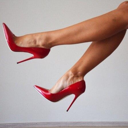 Design-Unique-en-cuir-verni-chaussures-femmes-bout-pointu-talon-aiguille-pompes-rouge-talons-hauts-bas