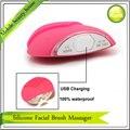 5 шт./лот бесплатная доставка вибрационный электрические лица лица щетка для очистки уход за кожей устройство USB аккумуляторная