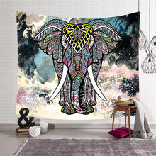 Elephant Tapestry Wall Hanging Indian Mandala Hippie Bohemian Witchcraft Yoga Shawl Mat Beach Towel Tablecloth Home Decor все цены