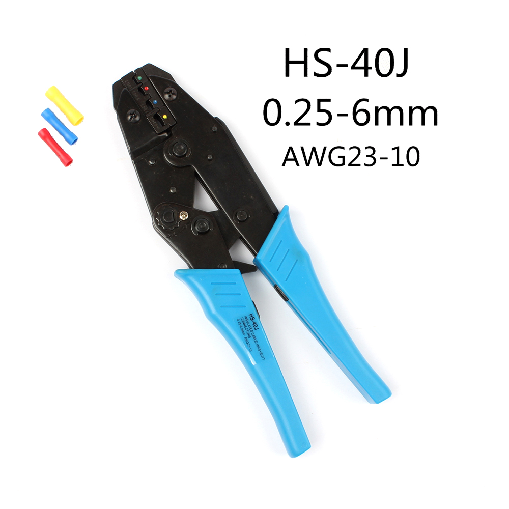 NEW Model <font><b>HS</b></font>-30J <font><b>HS</b></font>-<font><b>40J</b></font> crimping plier 1-6.0mm2 DIE SETS good quality EUROP STYLE ratchet crimping tool 9