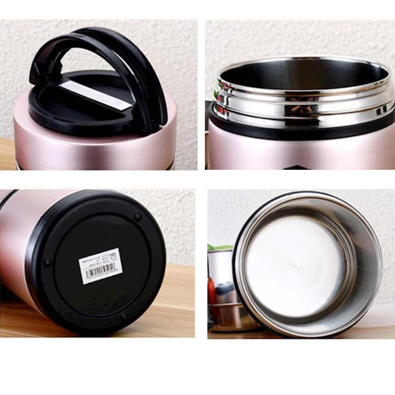 Thermal Lunch Box Vacuum Insulated Lunch Box Food Carrier Bento Box  Stainless Steel Food Containers Hold Warm for 8 Hours