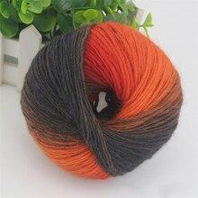 50g bola de lana acrílica Hilado para la mano hilos de punto de ganchillo  Arco Iris Cachemira visón Hilado suave lana merino Hil. a00eb463b18a