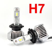 1 Set H7 P12 Car LED Headlight Super Bright 0.72MM Ultra Thin No Blind W/ Driver Turbo Fan Front Lamps Bulb 6K White 90W 13000LM