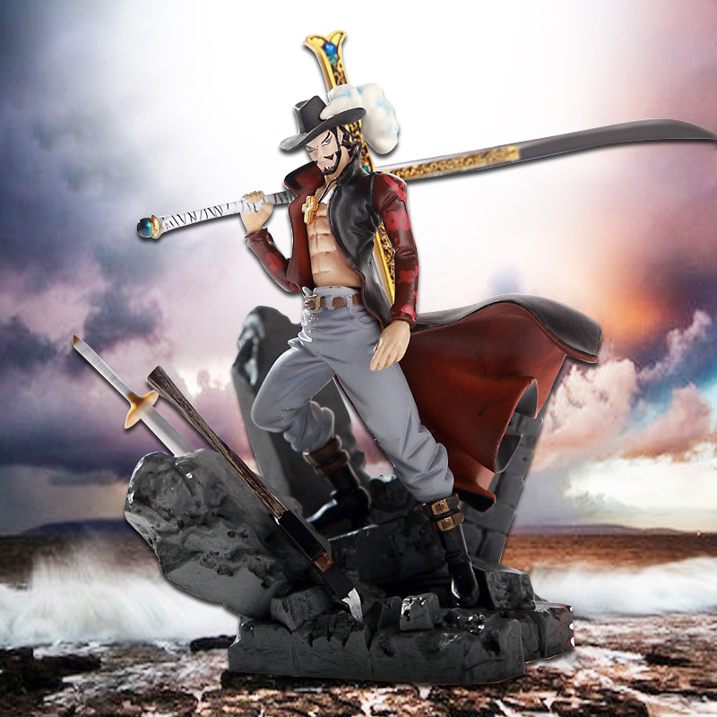NEW hot ! 14cm One piece luffy Dracule Mihawk action figure toys Christmas toy