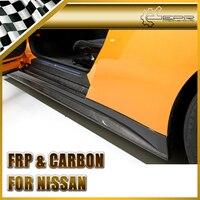 Car Styling For Nissan R35 GTR Carbon Fiber ZELE Style Side Skirt In Stock