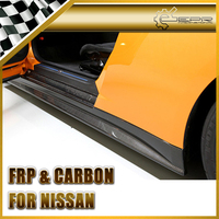 Car Styling For Nissan R35 GTR Carbon Fiber ZELE Style Side Skirt In Stock