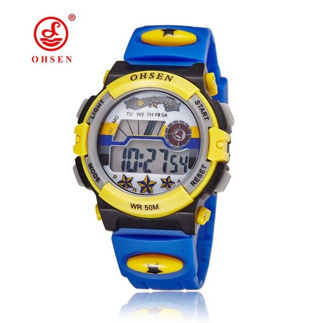 TOP Sale 2018 OHSEN Brand Digital Quartz Watch Children Boy 50M Waterproof Watch