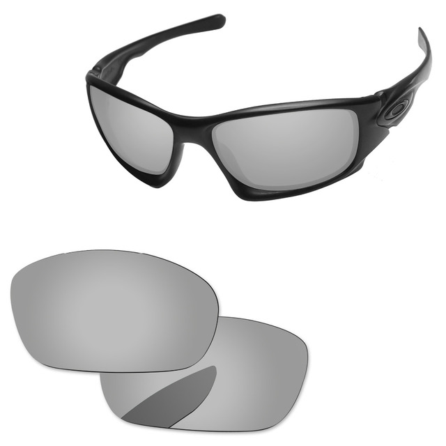 be165c8639 Cristales de repuesto polarizados de espejo de plata cromado para diez gafas  de sol marco 100