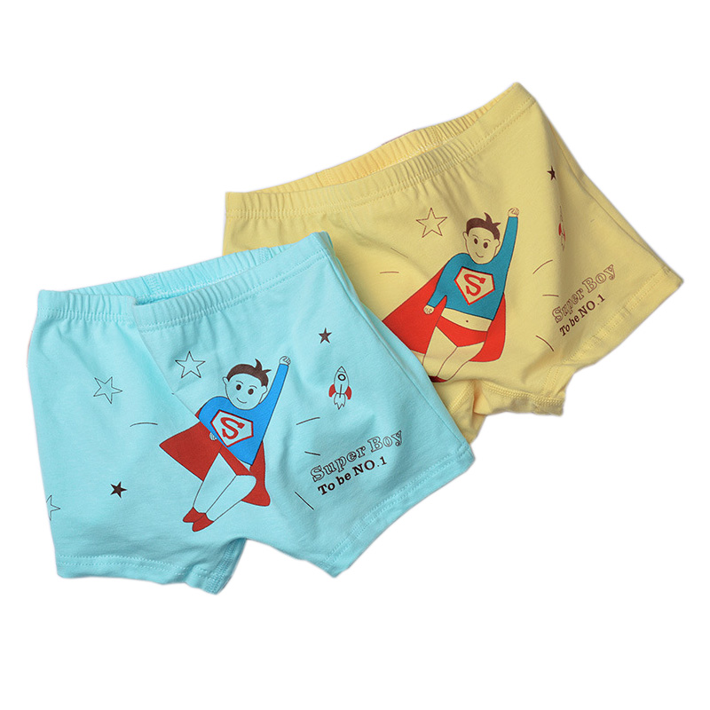 2pcs/Set Print Superman Bear Boys Panties Cartoon Boys Boxers Briefs Kids Cotton Underwear Shorts Children Clothing Underpants