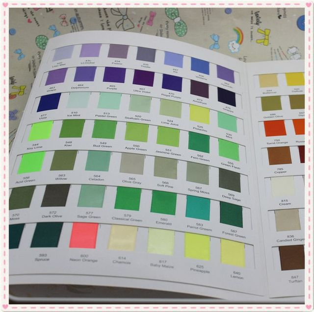 Aliexpress.Com : Buy Free Shipping 196 Colors Sample Color Chart