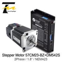 Leadshine 2 Phase NEMA23 Brake motor 57CM23 BZ 2.1N.M+ Driver DM542S Input Voltage VDC20 50V