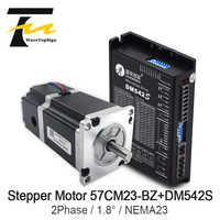 Leadshine 2 Phase NEMA23 Brake motor 57CM23-BZ 2.1N.M+ Driver DM542S Input Voltage VDC20-50V