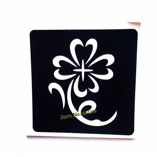 Us 069 1 St Henna Zonnebloem Waterdicht Tattoo Stencils Voor Vrouwen Makeup Tools Airbrush Schilderen Diy Tekening Tattoo Sjabloon Plakken In 1 St