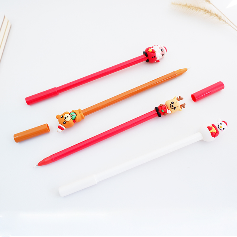 4pcs lot 0 5mm cute Christmas Gel Pen Promotional Gift Stationery School Office Supply Kawai Neutral pen Stationery in Gel Pens from Office School Supplies