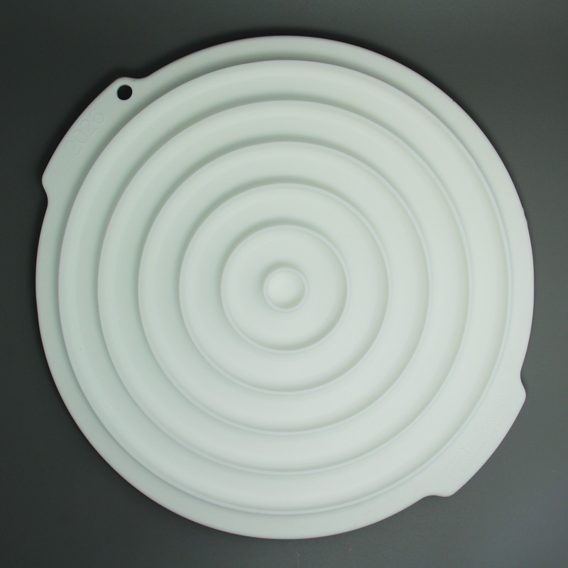 Fda forma redonda de alta qualidade silicone bolo decoração inserção molde cozimento