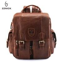 ZZNICK 2019 New Genuine Cowhide Leather backpack Men school Bags bagpack Men's Travel Bags Male backpacks Laptop bag pack 3906 1