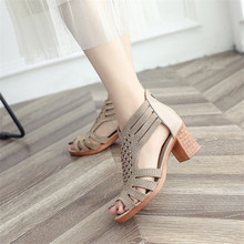 Sandalias Mujer 2019 Women Crystal Hollow Out Peep Toe Wedges Sandals High Heeled Shoes zapatos mujer tacon chaussures femme ete sandals women flat shoes bandage bohemia leisure lady casual sandals peep toe outdoor chaussures femme ete fashion shoes