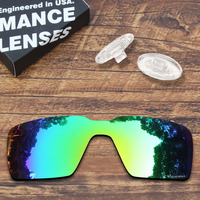 ToughAsNails Resist Seawater Corrosion Green Mirrored Polarized Replacement Lens and Clear Nose Pads for Oakley Probation