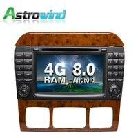 8 core 4 г Оперативная память Android 8.0 dvd плеер автомобиля GPS навигации стерео медиа для Mercedes Benz S Class W220 s280 S320 S350 S400 s420