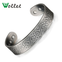 Wollet Pain Relief Anti Arthritis Rheumatism Health Men Jewelry Antique Copper Plating Magnetic Copper Bracelets Bangles