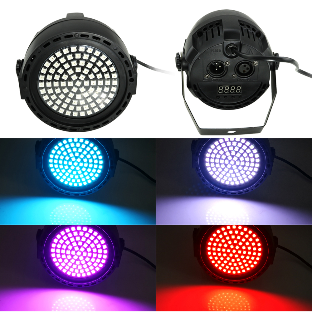 18W DMX Sound Disco Colorful Strobe Stage Lighting Effect 91 LED RGB DJ Bar Holiday Party Christmas Light With Remote Control in Stage Lighting Effect from Lights Lighting
