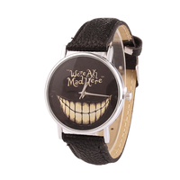 Funny Smile Big Mouth Quartz Watch Women Fashion Watch Leather Strap Quartz Watch Women Cute Dress Wristwatches P20
