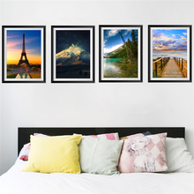 45*60cm scenery photo frame wall stickers home decor living room bedroom landscape wall decals pvc mural art diy wallpaper custom natural scenery wallpaper planet landscape view from a beach 3d photo mural for living room restaurant bedroom wall pvc
